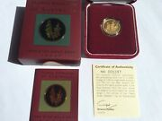 1999 100 Gold Proof Floral Emblems Of Victoria Common Heath Andndash Rare Series.