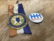 1968 Democratic National Convention Badge Chicago And Humphrey Pinback Button