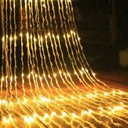 Led Waterfall Curtain Icicle String Light Christmas Wedding Party Garden Lights