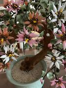 Beautiful Jade Plant - Prosperous Large 100 Hand Made Jade Flowers And Leaves.
