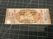 12/27 1964 Cleveland Browns Baltimore Colts Nfl Championship Game Full Ticket
