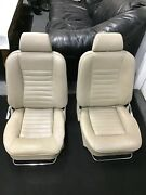 Jaguar Xjs 76-87 Pair Of Left And Right Front Seat Seats Tan / Beige Very Nice Aee