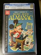 Mickey Mouse Almanac 1 Cgc 9.2 Carl Banks Painted Cover 1957