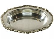 Antique Marshall Fields And Co. Silver Copper Tray 1900's - Oval Serving Tray 11.5