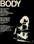 Vito Acconci Signed Poster Body Art Event @ Nyu 1971