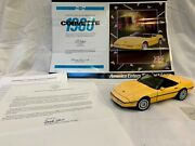 1986 Chevrolet Corvette With Certificate - Franklin Mint - Yellow