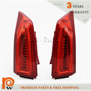 Fits 2013-2018 Cadillac Ats Driver+passenger Side Red Full Led Drl Tail Lights