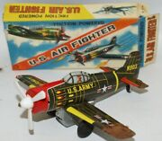 Vintage Ka Japan Tin Friction Powered Us Army N903 Air Force Fighter Jet Plane