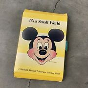 Vintage Mickey Disney T-shirt Nos 80s Its A Small World Goofy Minnie Youth