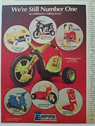 1977 Empire Childrenand039s Riding Toys Mickey Mouse Hot Cycles Vintage Toy Ad