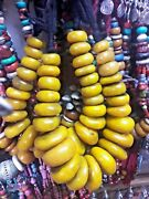 Real Moroccan Amber Resin 1 Necklace Handmade African Berber Beads Big Size