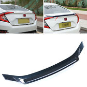 Fit For 2016-2020 Honda Civic 10th Dark Blue Rear Hollow Out Spoiler Wing Flap