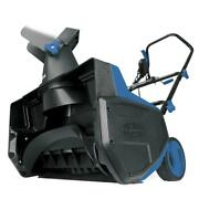 Single Electric Stage Snow Thrower 12 Amp Motor 18 Inch Light 2 Blade No Gas Us
