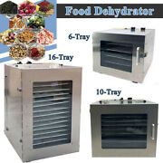 Food Dehydrator Machine Stainless Steel Food Dryer For Fruit Meat 6and10and16 Tray