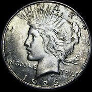 1926-s Peace Dollar Silver Us Coin ---- Gem Bu++ Condition Toned ---- G399