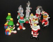 8 Looney Tunes Warner Brothers Christmas Light Covers And 2 Goebel Ornaments