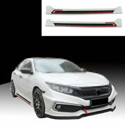 Fit For Honda Civic 2016-2019 2020 Side Skirts Extension Spoiler Lip Abs White