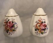 Rare Vintage 1970andrsquos Royal Crown Derby Salt And Pepper Shakers Derby Posies