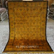 Yilong 5and039x7and039 Gold Hand Knotted Area Rug Antique Handmade Silk Carpet 161ab