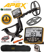 Garrett Ace Apex Multi-freq Metal Detector W/ Pro Pointer At Carry Bag + Pouch