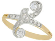0.26 Ct Diamond And 18 Ct Yellow Gold Dress Ring - Antique Circa 1910 - Size R
