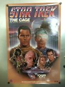 Vintage Star Trek The Cage Pilot Rolled Movie Poster 27 X 40 Excellent Cond.
