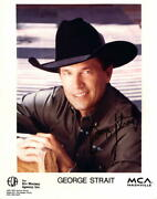 George Strait Signed Autograph 8x10 Photo - King Of Country Out Of The Box Pure