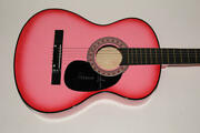 Melanie Safka Signed Autograph Pink Acoustic Guitar - Woodstock 69 Very Rare