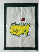 Phil Mickelson Signed Autograph Masters Golf Garden Pin Flag - Very Rare W/ Psa
