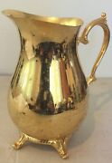 Vintage Wm Rogers Silverplate Footed Serving Pitcher With Ice Lip Roger 817