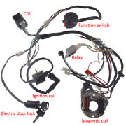 125cc Wire Harness Assembly Wiring Kit For 50 70 90 110 Atv Electric Quad