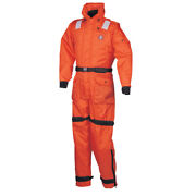 Mustang Deluxe Anti-exposure Coverall And Worksuit - Lg - Orange