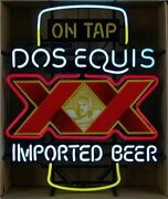 Dos Equis Xx Imported Beer On Tap 24x20 Neon Sign Light Lamp With Dimmer