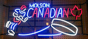 Molson Canadian Hockey 24x20 Neon Sign Light Lamp Decor With Dimmer