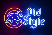 Chicago Cubs Old Style 24x20 Neon Sign Light Lamp Decor With Dimmer
