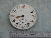 Rare And Unusual Grana Military Pocket Watch Part Movement And Dial For Parts Now