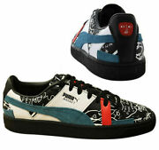 Basket Graphic X Shantell Martin Black Leather Mens Trainers 366531 02 B97d