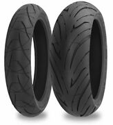 Shinko 016 Verge 2x Dual Compound Front And Rear Tires 120/60zr-17 And 200/50zr-17