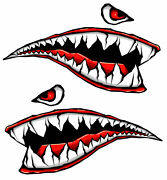 Motorcycle Side Gas Tank Fighter Teeth Decals Vinyl Stickers For Car And Moto