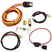Electric Fan Wiring Thermostat Fuse Holder30/40 Amp Relay Kit 185/165 Degree