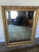 Labarge Italian Style Large Gold Wall Mirror / Excellent Condition Vintage 1984