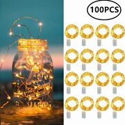Weddings Home Micro Lights Copper Wire 10 20 Leds Battery String 100 Pcs/lot New