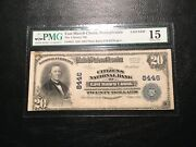 National Bank Note East Mauch Chunk Pmg15 Fine Small Mark Upper Left Pin Hole