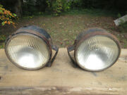 Antique Vintage Guide Tractor Headlights Headlamps 914530 7 1/2 And Mounts