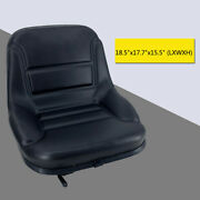 Universal Tractor Seat Black With Back Rest Waterproof Lawn Mower Garden Tractor