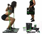Bodyboss 2.0 Green - Full Portable Home Gym Workout Package + Resistance Bands