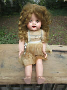 Antique Ideal Doll Baby Doll Approx. 21 Standing Saucy Walker