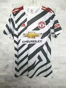 Adidas 2020-21 Manchester United 3rd Jersey Fm4263 White-black-red