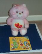 Large Plush Care Bear With Care Bears Book