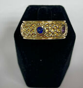 The Infinity Stones Ring In 14k Yellow Gold With 6 Gemstones Made In Usa